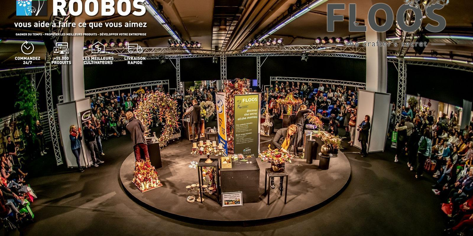 Roobos Wholesaler for flowers and plants at IPM Essen